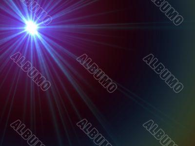 blue and violet starburst
