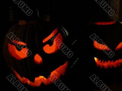 Carved Spooky Pumpkins, Halloween