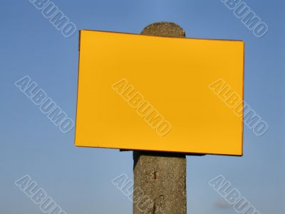 sign post -  ready to fill in