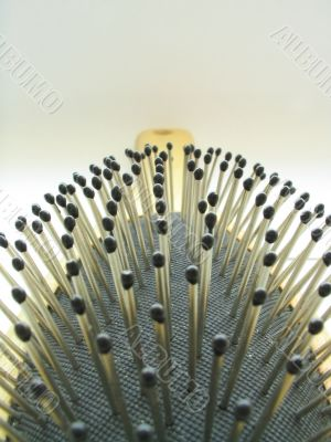 beauty accessories - hairbrush close-up