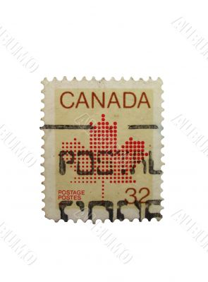 canadian stamp isolated