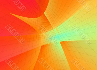 Abstraction background with nets