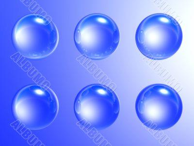 blue soap-bubbles