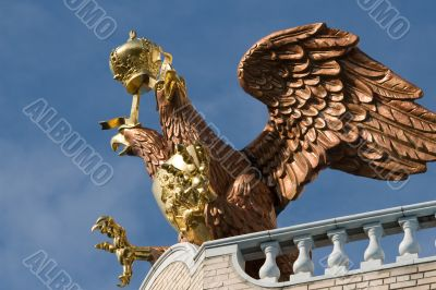 Golden two-headed eagle.