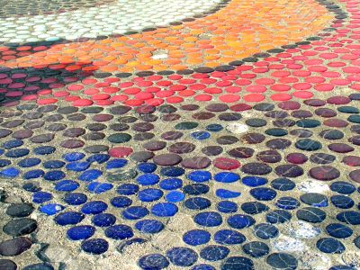 Mosaic on the pavement
