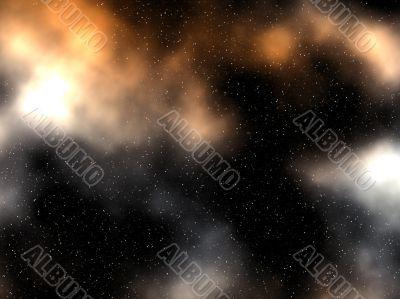 glowing nebula