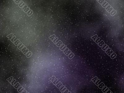 faint gas nebula with starfield