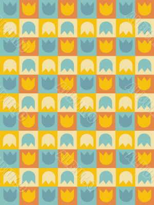 Seamless retro tile