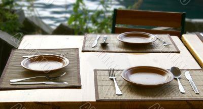 tableware served for mealtime