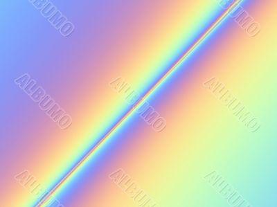diagonal rainbow coloured stripe