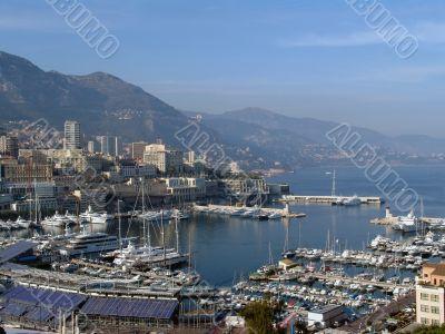monaco. the mediterranean sea view