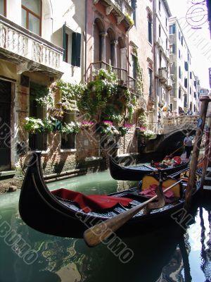 the gondolas in venice. italy