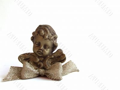 Golden Cherub with Bow