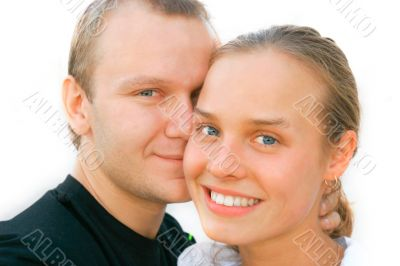 attractive young couple portrait