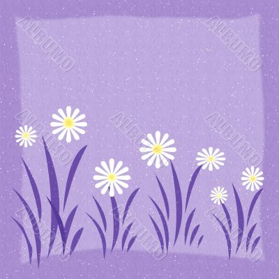 Abstraction background with flowers