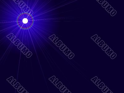 glowing moon and large moon beams