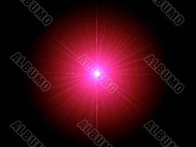 centre pink star