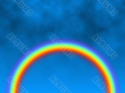 rainbow against cloudy backdrop