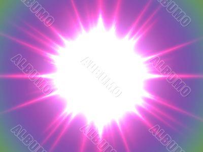 big lilac sun