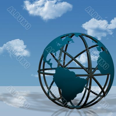 Virtual Earth Globe Sculpture