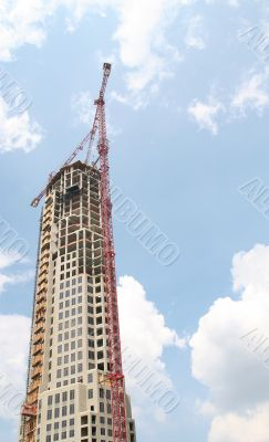 Rising Tower and Crane
