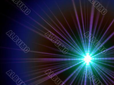blue ray sparkle