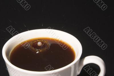 Milk Splash in Coffee