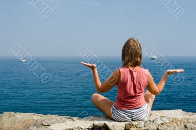 meditation above the sea