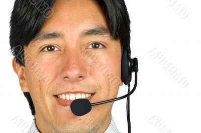 friendly male customer services representative