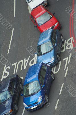 car rush hour in london