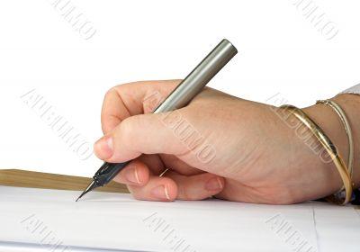 letter signature close up