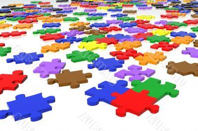 multicolour puzzle pieces