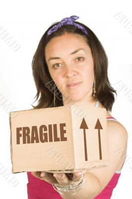 box and girl - moving