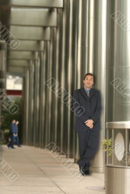business man in a corporate environment