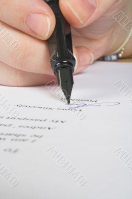 business signature - letter