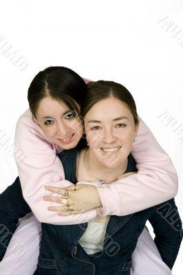 beautiful joyful young girls