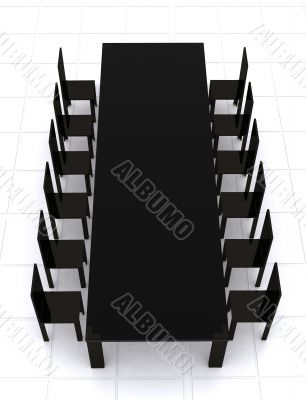 business conference table - 3d rendering