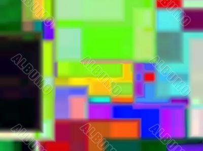 overlapping colour quads