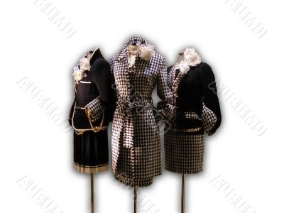 Three elegant lady`s suits