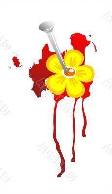 Beaten flower