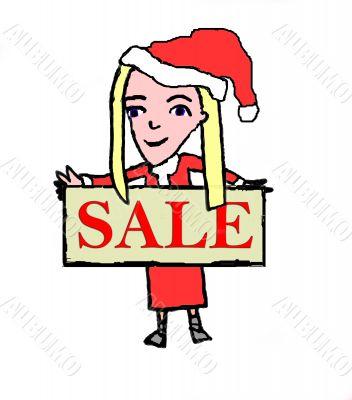 Sally Sell Christmas Sale Sign
