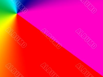pointed rainbow colours