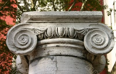 Detail of Stone Ionic Column