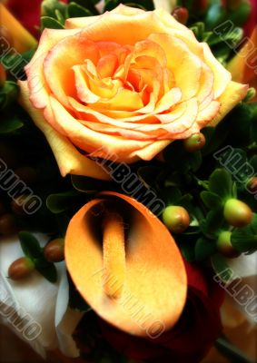 Romantic Bouquet: Rose and Calla Lily