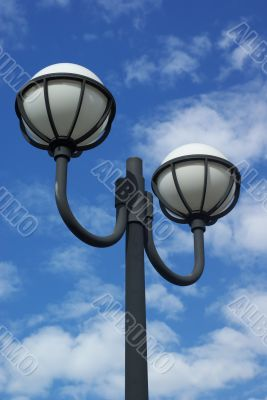 Lamps on the riverside promenade, near Brisbane CBD