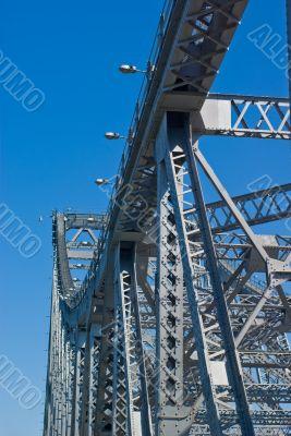 Storey Bridge Girders and Lights: Brisbane Australia