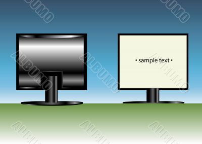 Front and back LCD display
