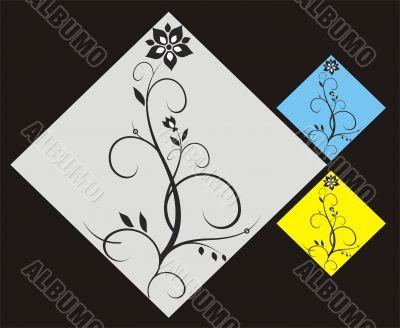 Ornamental flower elements