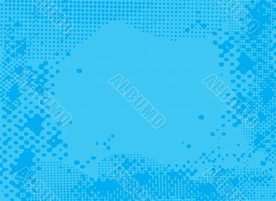 halftone blue