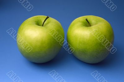 two appetizing apples